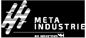 Logo blanc Méta Industrie du groupe Mh Industries